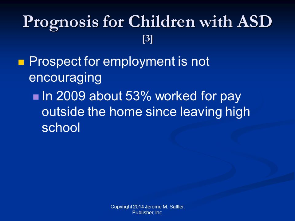 Prognosis for Children with ASD [3]